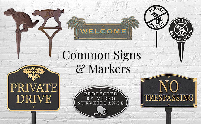 Common Signs & Markers