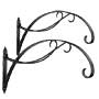 Achla Designs Wrought Iron Scroll Brackets, Black, Pack of 2
