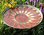 Achla Red African Daisy Bird Bath with Stake