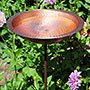 Achla Hammered Solid Copper Bird Bath with Stake