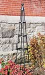 """Achla Garden Obelisk, Graphite, 61.5"""""""