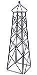 "Achla Lattice Obelisk, Black, 67"""