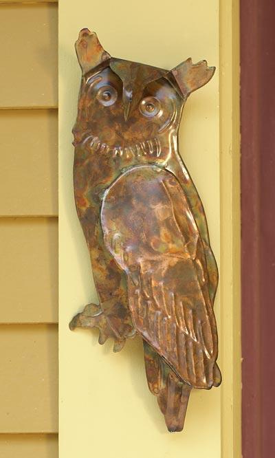 Ancient Graffiti Metal Owl Wall Art, Copper, 5\