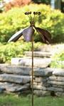 """Ancient Graffiti Kinetic Fuchsia Flower Spinner, Copper, 60"""""""