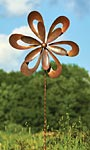 "Ancient Graffiti Kinetic Floral Cutout Spinner, Brown, 87""H"