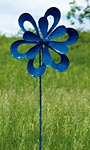 "Ancient Graffiti Kinetic Floral Cutout Spinner, Blue, 78.5""H"