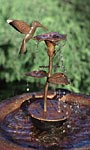 Ancient Graffiti Copper Hummingbird Dripper Fountain