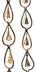 Ancient Graffiti Aspen Leaf and Bell Rain Chains, Pack of 2