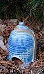 Anthony Stoneware Toad House, French Blue