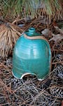 Anthony Stoneware Toad House, Teal Green