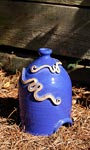 Anthony Stoneware Toad House, Royal Blue