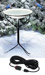Heated Bird Bath with Metal Stand and 50' Lock N Dry Cord