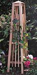 "Arboria Manhattan Cedar Obelisk, Natural, 56"""
