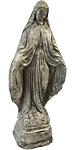 Athens Tiny Mary Statue, Pre Aged