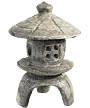 Athens Small Round Garden Pagoda Statue, Pre Aged
