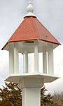 Wing & A Prayer Azalea Bird Feeder, Hammered Copper Roof