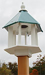 Wing & A Prayer Azalea Bird Feeder, Verdigris Roof