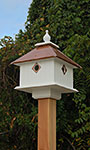 Wing & A Prayer Carriage Bird House, Hammered Copper Roof