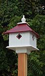 Wing & A Prayer Carriage Bird House, Merlot Red Roof