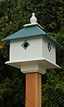 Wing & A Prayer Carriage Bird House, Verdigris Roof