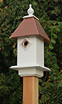 Wing & A Prayer Classic Bluebird House, Hammered Copper Roof