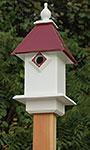 Wing & A Prayer Classic Bluebird House, Merlot Red Roof