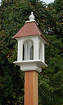 Wing & A Prayer Camellia Bird Feeder, Hammered Copper Roof