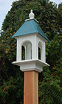 Wing & A Prayer Camellia Bird Feeder, Verdigris Roof