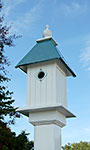 Wing & A Prayer Cathedral Bird House, Verdigris Roof
