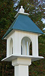 Wing & A Prayer Dogwood Bird Feeder, Verdigris Roof