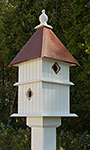 Wing & A Prayer Holly Bird House, Hammered Copper Roof