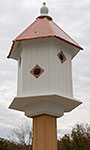 Wing & A Prayer Magnolia Bird House, Hammered Copper Roof