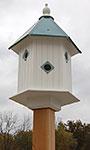 Wing & A Prayer Magnolia Bird House, Verdigris Roof