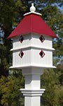 Wing & A Prayer Plantation Bird House, Merlot Red Roof