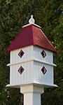 Wing & A Prayer Plantation Bird House, Merlot Red Roof