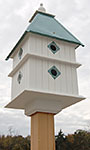 Wing & A Prayer Plantation Bird House, Verdigris Roof