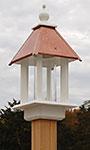 Wing & A Prayer Pavilion Bird Feeder, Hammered Copper Roof