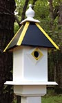Wing & A Prayer Team Colors Bird House, Black and Gold