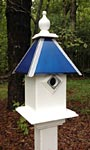 Wing & A Prayer Team Colors Bird House, Blue and Silver