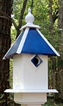 Wing & A Prayer Team Colors Bird House, Blue and White
