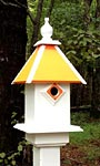 Wing & A Prayer Team Colors Bird House, Light Orange & White