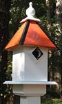 Wing & A Prayer Team Colors Bird House, Orange and Black