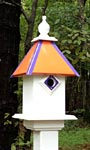 Wing & A Prayer Team Colors Bird House, Orange and Purple