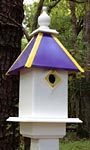 Wing & A Prayer Team Colors Bird House, Purple and Gold
