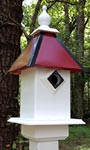 Wing & A Prayer Team Colors Bird House, Red and Black
