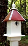 Wing & A Prayer Team Colors Bird House, Red and Silver