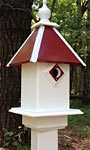 Wing & A Prayer Team Colors Bird House, Red and White