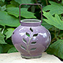BirdBrain Alucio Candle Lantern, Purple Leaves