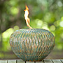 BirdBrain Arani Wave Firepot, Large, Oceanic Blue