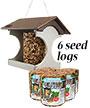 Polywood Recycled Plastic Suet Log Bird Feeder & Seed Logs